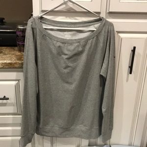 Nike used low cut shoulder sweatshirt like new